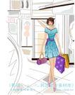 女性服饰购物0053,女性服饰购物,人物,购物街 手提包 购物袋