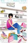 女性服饰购物0054,女性服饰购物,人物,皮鞋 试穿 精挑细选