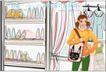 女性服饰购物0065,女性服饰购物,人物,背包 风衣 高跟鞋