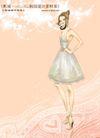 妖艳的女子0007,妖艳的女子,人物,束腰 连衣裙 身材
