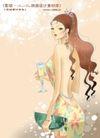 妖艳的女子0008,妖艳的女子,人物,裸露 后背 端酒