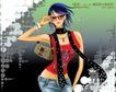 妖艳的女子0016,妖艳的女子,人物,眼镜 项链 挎包