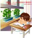 学生学习0017,学生学习,人物,睡觉 趴着 课本