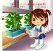 学生学习0018,学生学习,人物,盆栽 浇花 喷壶