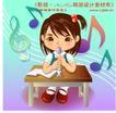 学生学习0023,学生学习,人物,音乐 乐理 五线谱