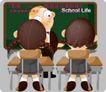 学生课堂0008,学生课堂,人物,上课 面对 黑板