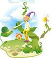 小丑与风景0004,小丑与风景,人物,招呼 蜗牛 枝藤
