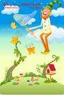 小丑与风景0006,小丑与风景,人物,捕捉 黄色 蝴蝶