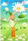 小丑与风景0013,小丑与风景,人物,彩虹 采花 菊花