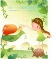 小女孩与花0011,小女孩与花,人物,水珠 挑逗 木墩