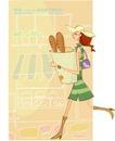 居家女人0001,居家女人,人物,面包 上班 快跑