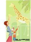 居家女人0004,居家女人,人物,长颈鹿 动物园 观看