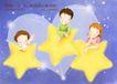幸福家庭生活0013,幸福家庭生活,人物,心形 星星 幻想