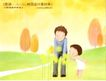 幸福家庭生活0036,幸福家庭生活,人物,爸爸和女儿 蒲公英 山间