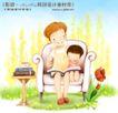 幸福家庭生活0037,幸福家庭生活,人物,妈妈和儿子 单人沙发 讲故事