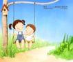 幸福家庭生活0042,幸福家庭生活,人物,姐弟 一起 荡秋千