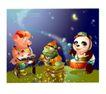 幻想魔法世界0011,幻想魔法世界,人物,猪公主 龟丞相 熊猫