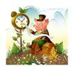 幻想魔法世界0016,幻想魔法世界,人物,猪八戒 金币 眼镜