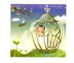 幻想魔法世界0017,幻想魔法世界,人物,鸟公主 鸟笼 鲜花