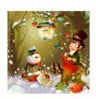 幻想魔法世界0030,幻想魔法世界,人物,雪人 魔术帽 魔术