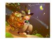 幻想魔法世界0032,幻想魔法世界,人物,月光下 小男孩 珠宝