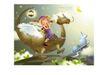 幻想魔法世界0035,幻想魔法世界,人物,望远镜 恐龙 天使