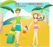 度假生活0012,度假生活,人物,手牵手 旅行 箱包