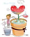 开心卡通0002,开心卡通,人物,盆栽 培养 爱心