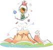 开心卡通0014,开心卡通,人物,跳起来 高兴 礼品