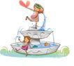 开心卡通0015,开心卡通,人物,喷泉 示爱 王子