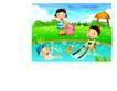 快乐儿童生活0005,快乐儿童生活,人物,小河 游泳 玩耍