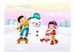 快乐儿童生活0006,快乐儿童生活,人物,堆积 雪人 搭凳子