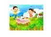 快乐儿童生活0009,快乐儿童生活,人物,丰盛 晚餐 吸引