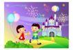 快乐儿童生活0011,快乐儿童生活,人物,烟花 宝塔 伙伴