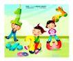 快乐儿童生活0014,快乐儿童生活,人物,数字 骑马 数学符号
