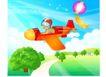 快乐儿童生活0017,快乐儿童生活,人物,翱翔 驾驶 天空