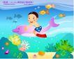 快乐儿童生活0018,快乐儿童生活,人物,鲸鱼 海草 螺丝