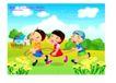 快乐儿童生活0020,快乐儿童生活,人物,篱笆 村屋 菊花