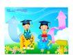 快乐儿童生活0024,快乐儿童生活,人物,博士 学问 学习