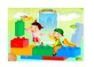 快乐儿童生活0025,快乐儿童生活,人物,运动 积木 搭建