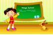 快乐儿童生活0030,快乐儿童生活,人物,学习 字母 课堂