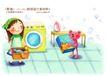 快乐小女孩0007,快乐小女孩,人物,洗衣 勤劳 家务