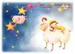 快乐小女孩0012,快乐小女孩,人物,绵羊 羊角 星空