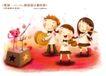 快乐小女孩0015,快乐小女孩,人物,乐队 吹笛子 拉小提琴