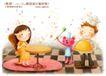 快乐小女孩0016,快乐小女孩,人物,厨师 食物 餐桌