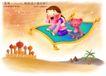 快乐小女孩0028,快乐小女孩,人物,魔毯 宠物 纱巾