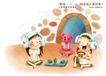 快乐小女孩0048,快乐小女孩,人物,头戴 防寒 耳廓