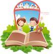 快乐署假生活0010,快乐署假生活,人物,翻书 学习 知识