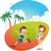 快乐署假生活0012,快乐署假生活,人物,跑道 体育场 足球