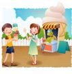 快乐署假生活0025,快乐署假生活,人物,冰淇淋 口感 品尝